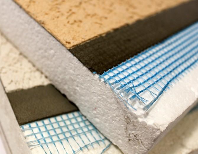 드라이비트 공법에 쓰는 마감재. 주로 스티로폼을 단열재로 사용한다. - materials.soa.utexas.edu 제공